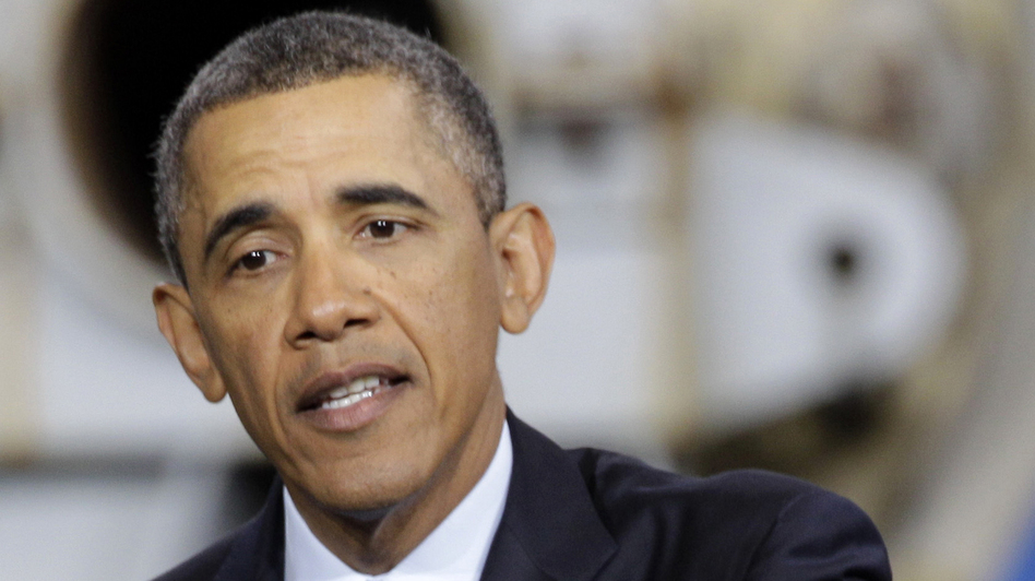 President Obama speaks Tuesday about the sequester in Newport News, Va. (AP)