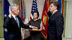 Hagel Sworn In As Defense Secretary