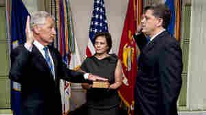 Hagel Sworn In As Defense Secretary