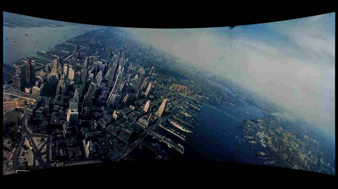 A film still of New York City from 1952's This Is Cinerama. The film was meant to introduce audiences to the new Cinerama widescreen.