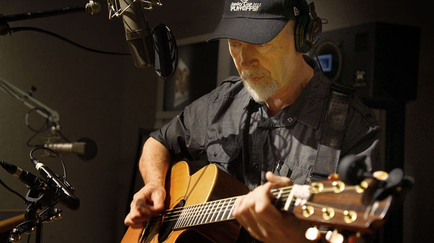 Richard Thompson performs live at the All Things Considered studio. (NPR)