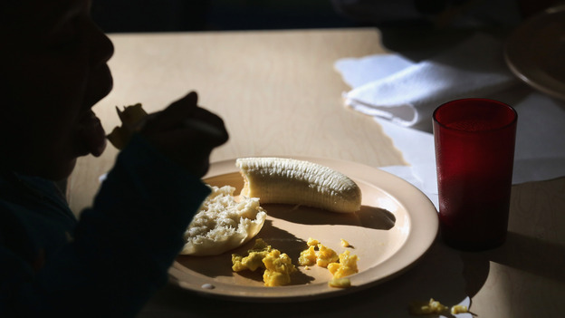 Children eat breakfast at a federally funded Head Start program. Many Head Start administrators are concerned they may have to cut back on the number of enrolled children if the sequester moves ahead. (Getty Images)
