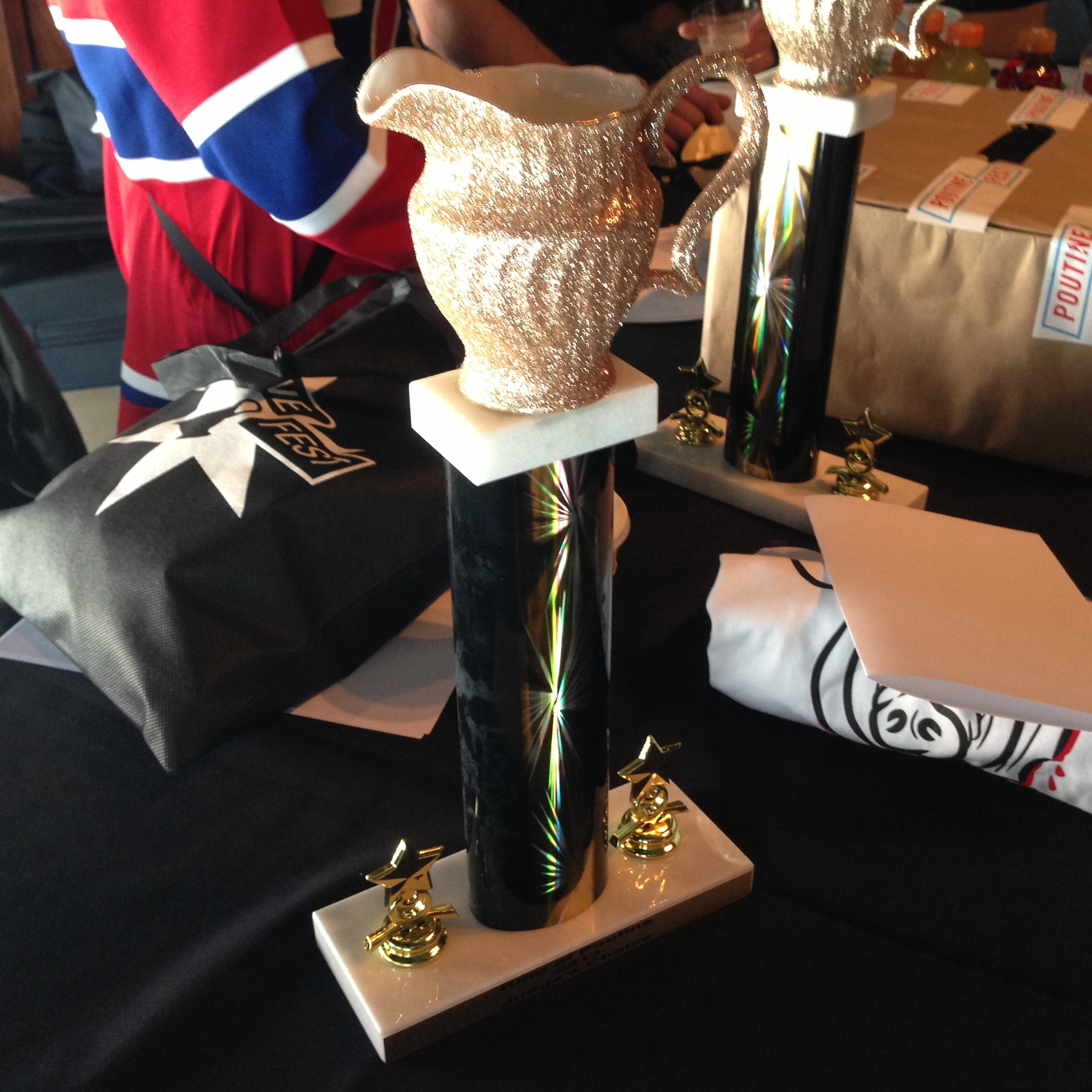"The ""King of Poutine"" trophy"