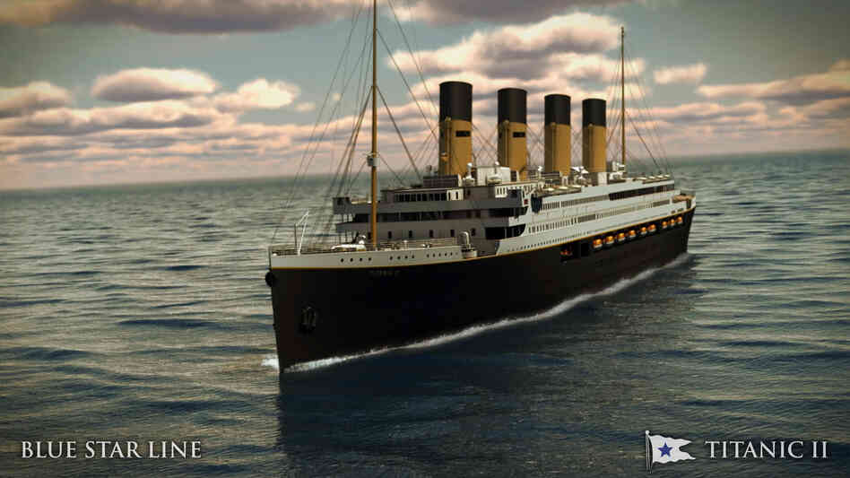 An artist's image of the Titanic II.