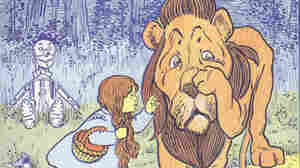 Wonderful Wizard of Oz book cover detail