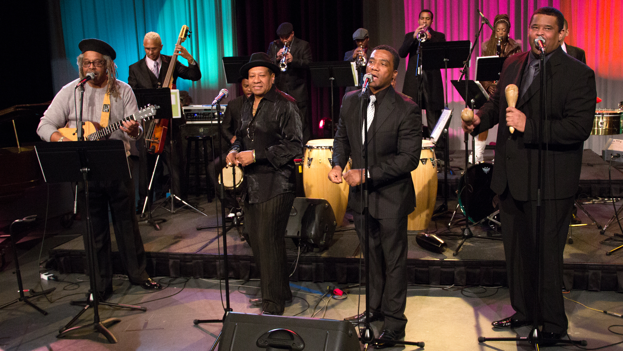 Juan de Marcos González (left) and his Afro-Cuban All-Stars perform live for Jazz24.