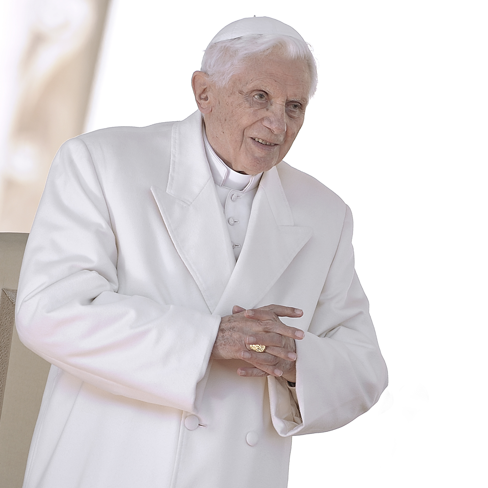 Pope Benedict XVI on Wednesday during his final general audience at the Vatican.