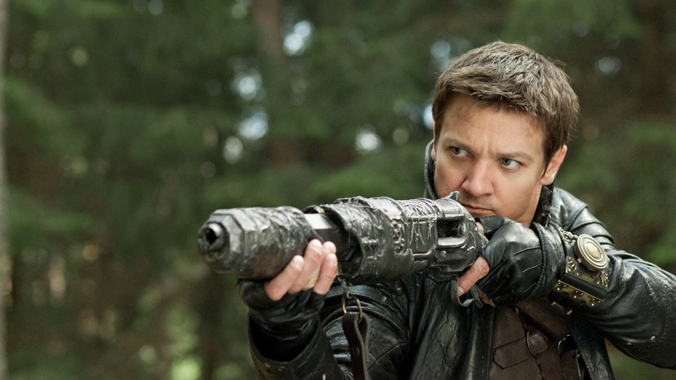 Jeremy Renner's Hansel (from January's <em>Hansel and Gretel: Witch Hunters</em>) was himself a grown-up fairy tale character gone rogue, using guns and firepower to take revenge on witches everywhere.