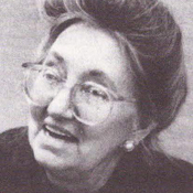 A photo of Marge Manderson, from the Southern Regional Council's newsletter. Her files of newspaper clippings included John Queen's story.