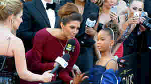 Best Actress nominee Quvenzhané Wallis is interviewed on the red carpet at the Academy Awards Sunday, when several journalists struggled with the young actress's name.