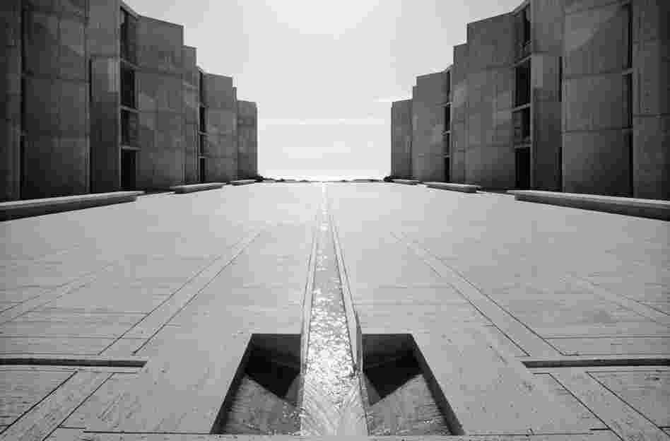 Salk Institute of Biological Research, Louis Kahn, La Jolla, Calif., 1977