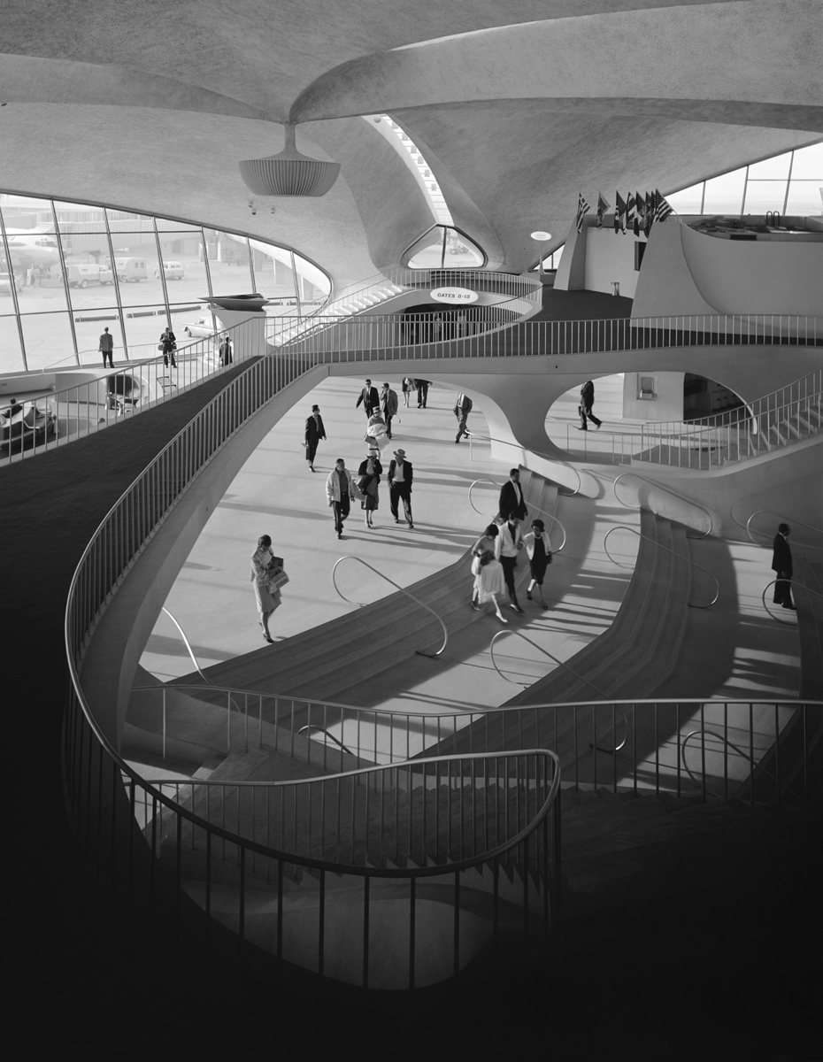 TWA Terminal at Idlewild (now JFK) Airport, Eero Saarinen, New York, N.Y., 1962