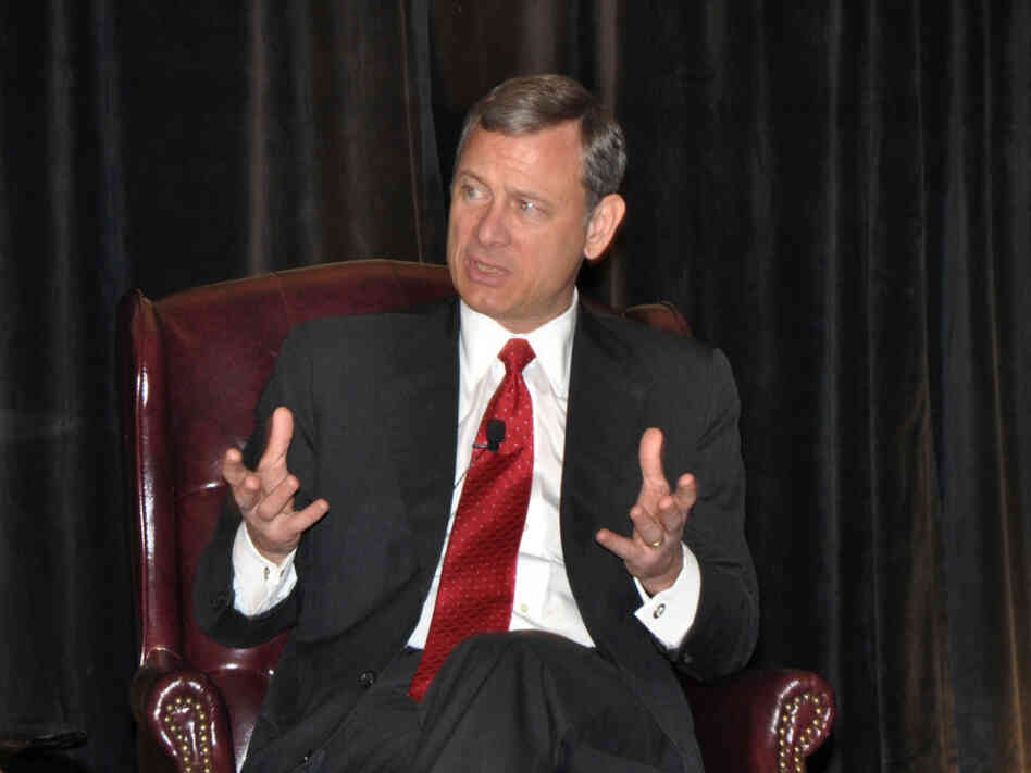 Chief Justice John Roberts, shown here during a pres