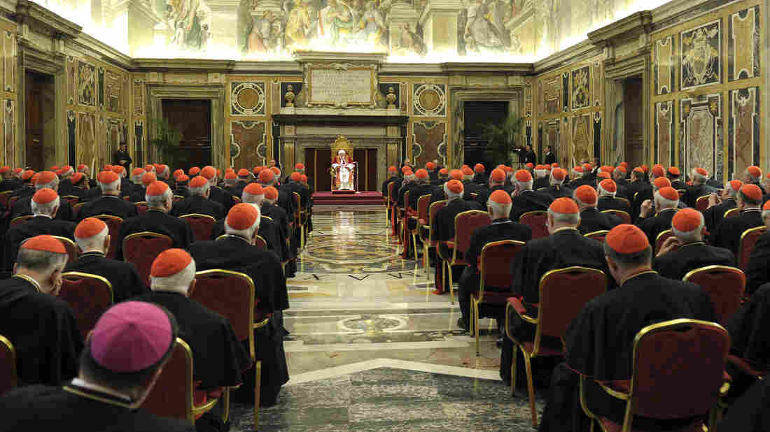 Roman Catholic cardinals at the Vatican on Thursday, as Pope Benedict XVI bid them goodbye. Now they must turn to choosing his successor.
