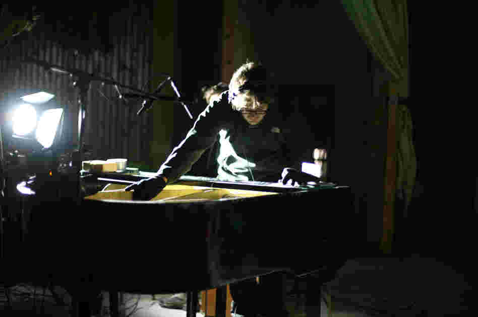 "Efterklang's Mads Brauer records ""the world's northernmost grand piano,"" one of the reasons the band wanted to visit Piramida."