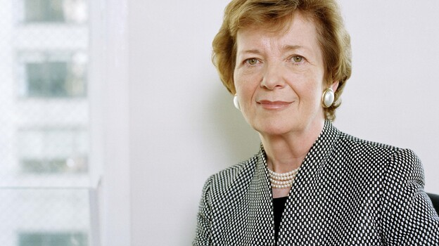 Mary Robinson was Ireland's first female president. A former United Nations High Commissioner and activist lawyer, she has advocated for human rights around the world. (Jurgen Frank)