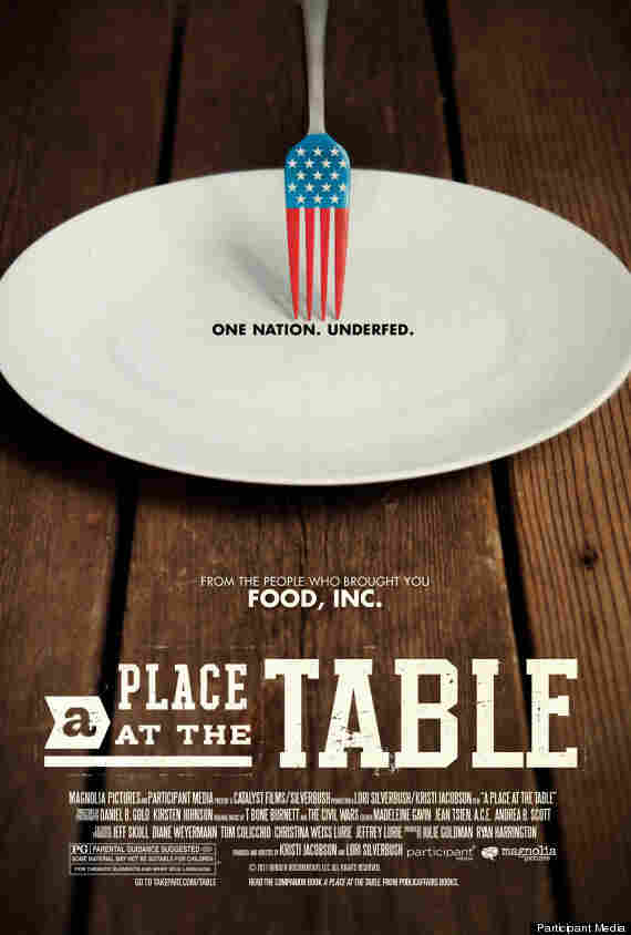 The poster for the documentary A Place At The Table.