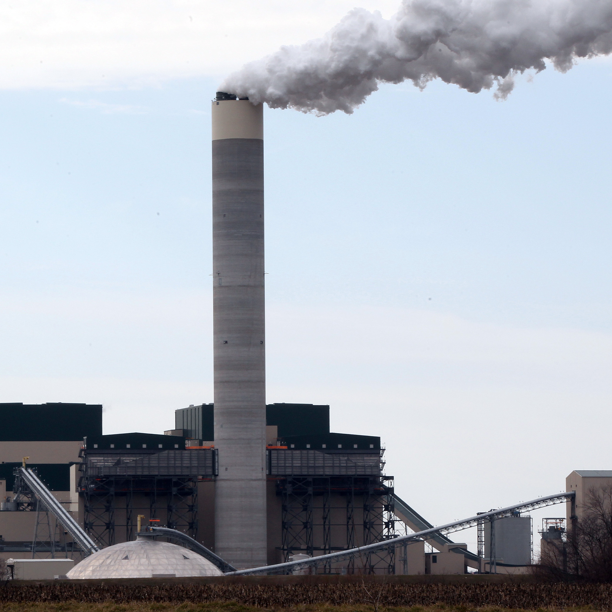 Illinois' Prairie State Energy plant, seen here on Feb. 23, 2012, shortly before it came on line for the first time. The largest coal-fired power plant built in the U.S. in the past 30 years, it is expected to be in operation until at least the 2040s.