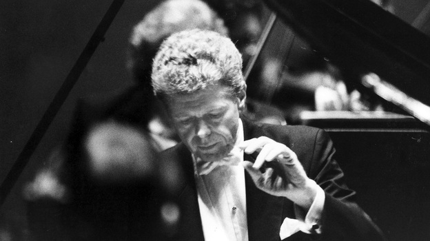 Van Cliburn in concert in 1993. (Ron Jenkins)
