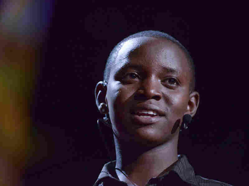 Richard Turere speaks at the TED2013 conference in Long Beach, Calif. With a simple invention, the Kenyan teen figured out a way to keep cows and their predators safe.