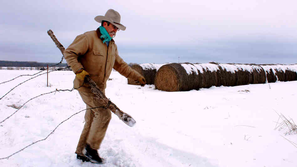 Kirk Sours says heavy snow creates extra work on his ranch, but he's thrilled that the pending melt will bring his otherwise dry pastures much-needed moisture.