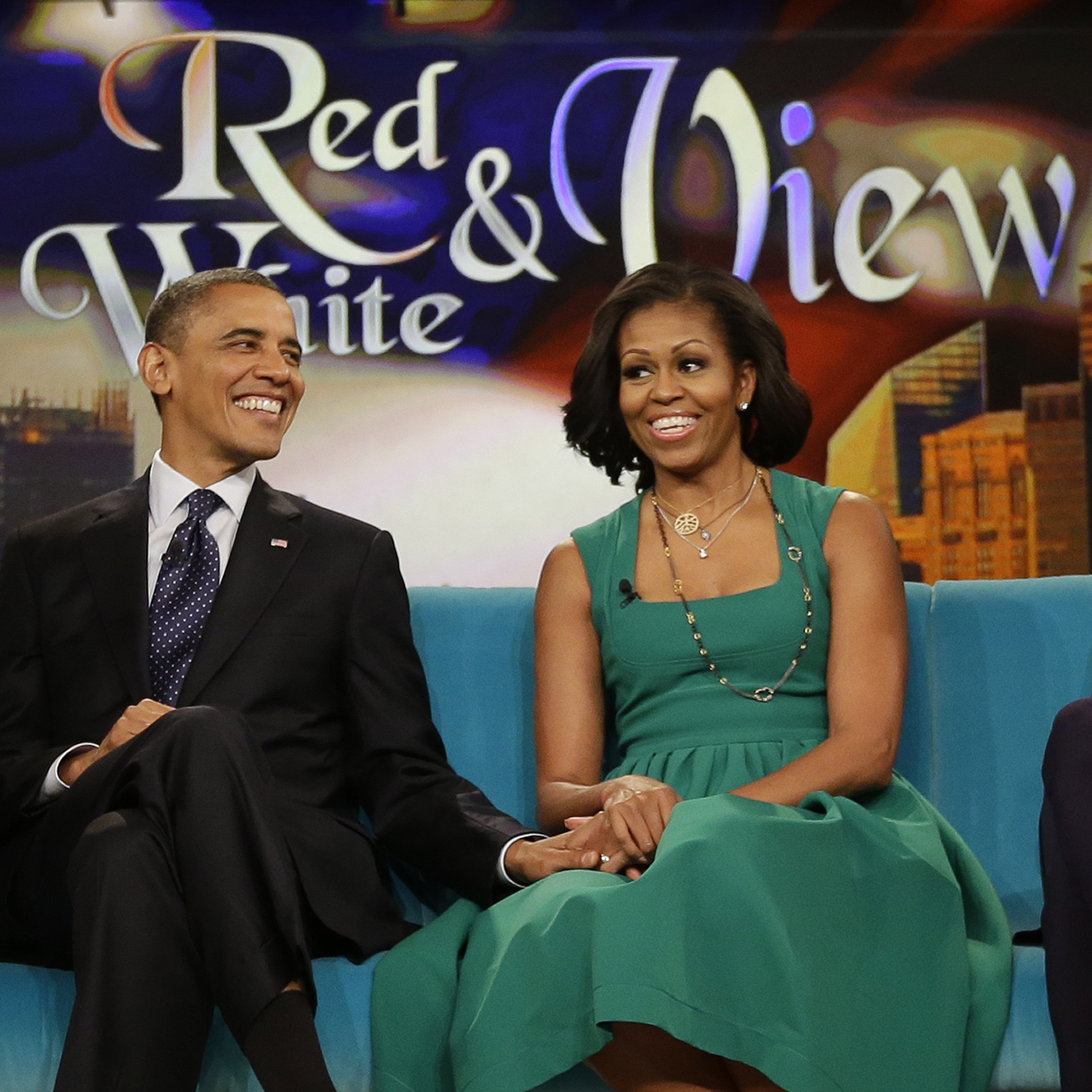 President Obama and first lady Michelle Obama appeared on The View last fall in New York.