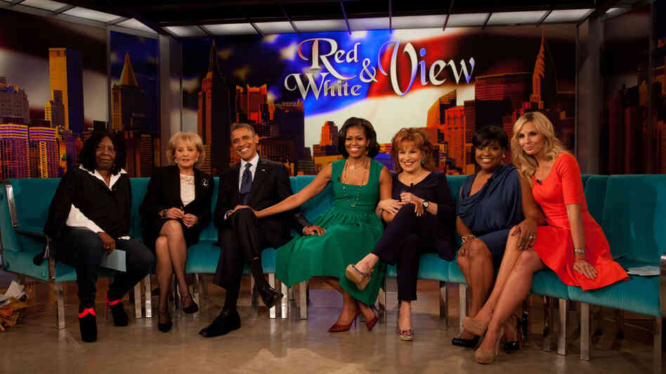 President Obama and first lady Michelle Obama posed with the ladies from The View during an appearance on the show last fall in New York.
