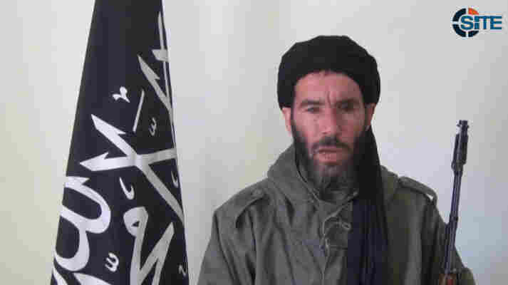 In this image from video, Mokhtar Belmokhtar claims responsibility for a deadly attack on a BP gas facility in Algeria. The Chadian military reported its forces had killed him in a raid in Mali on Saturday.
