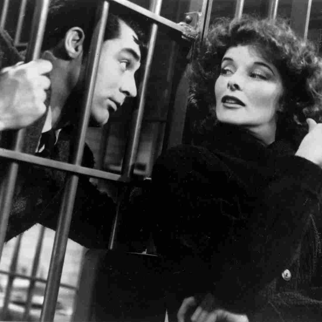Katharine Hepburn and Cary Grant in Bringing Up Baby.