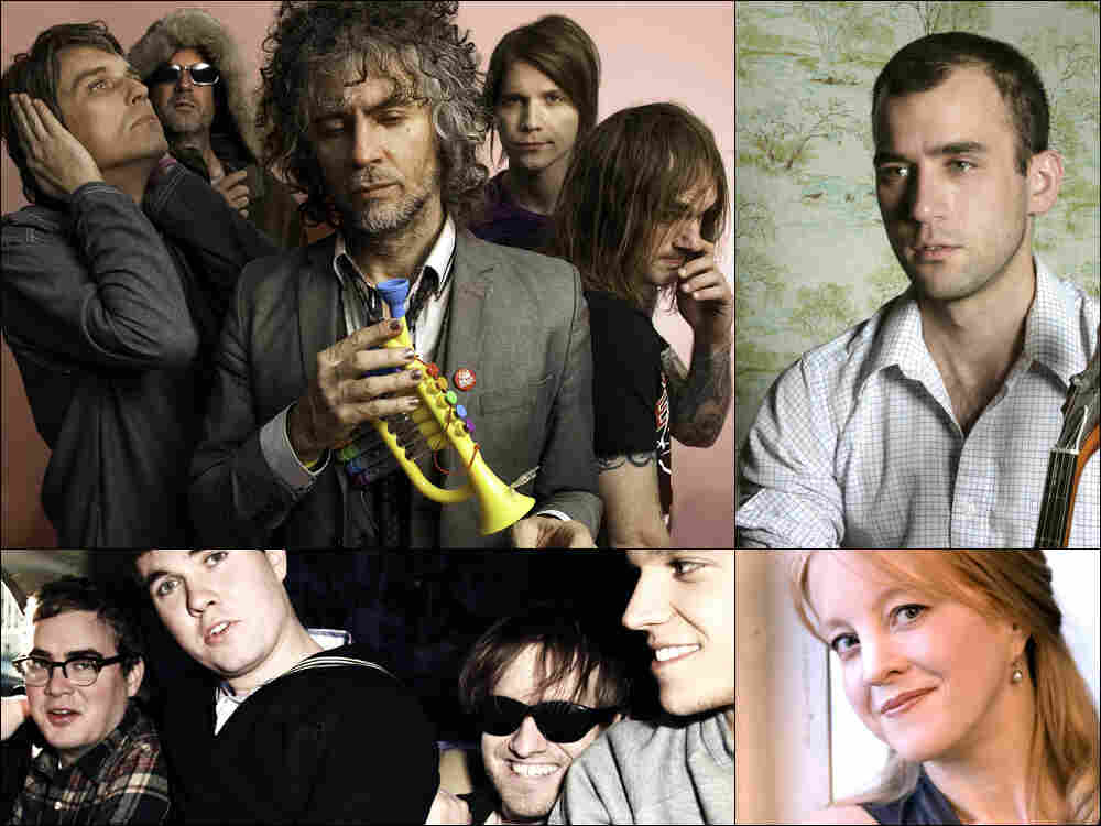 Clockwise from upper left: Flaming Lips, Sufjan Stevens, Maria Schneider, Surfer Blood.