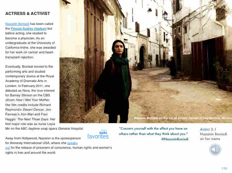 Nazanin Boniadi studied medicine before becoming an actress and activist.