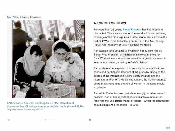 Parisa Khosravi is an award-winning CNN journalist, bringing international stories to viewers for more than 25 years.