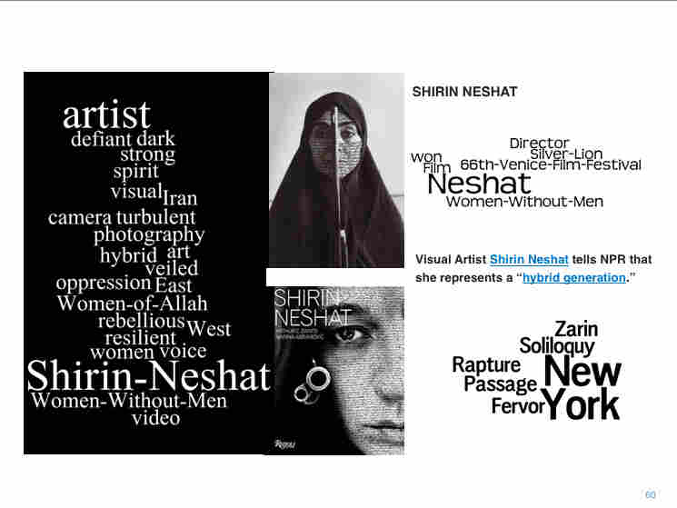 Shirin Neshat is an award-winning visual artist.