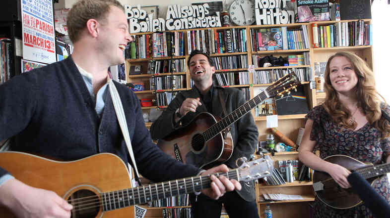 The Lone Bellow performs a Tiny Desk Concert on Feb. 20, 2013.