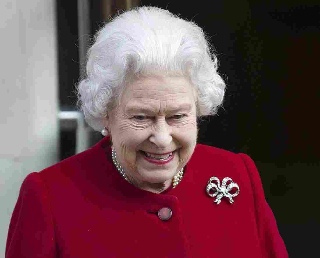 Britain's Queen Elizabeth II as she left King Edward VII hospital in London on Monday.