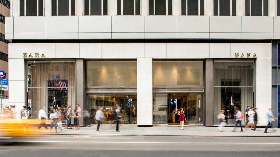 The New York City Zara store on Fifth Avenue. (Courtesy of Inditex)