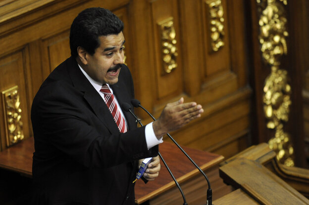 Venezuelan Vice-President Nicolas Maduro in February.