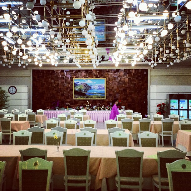 """The restaurant in The Koryo Hotel in #Pyongyang, North Korea."""