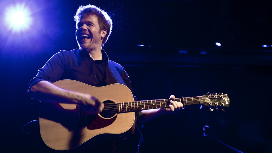 Josh Ritter performs The Beast in Its Tracks at Le Poisson Rouge. (Ebru Yildiz for NPR)