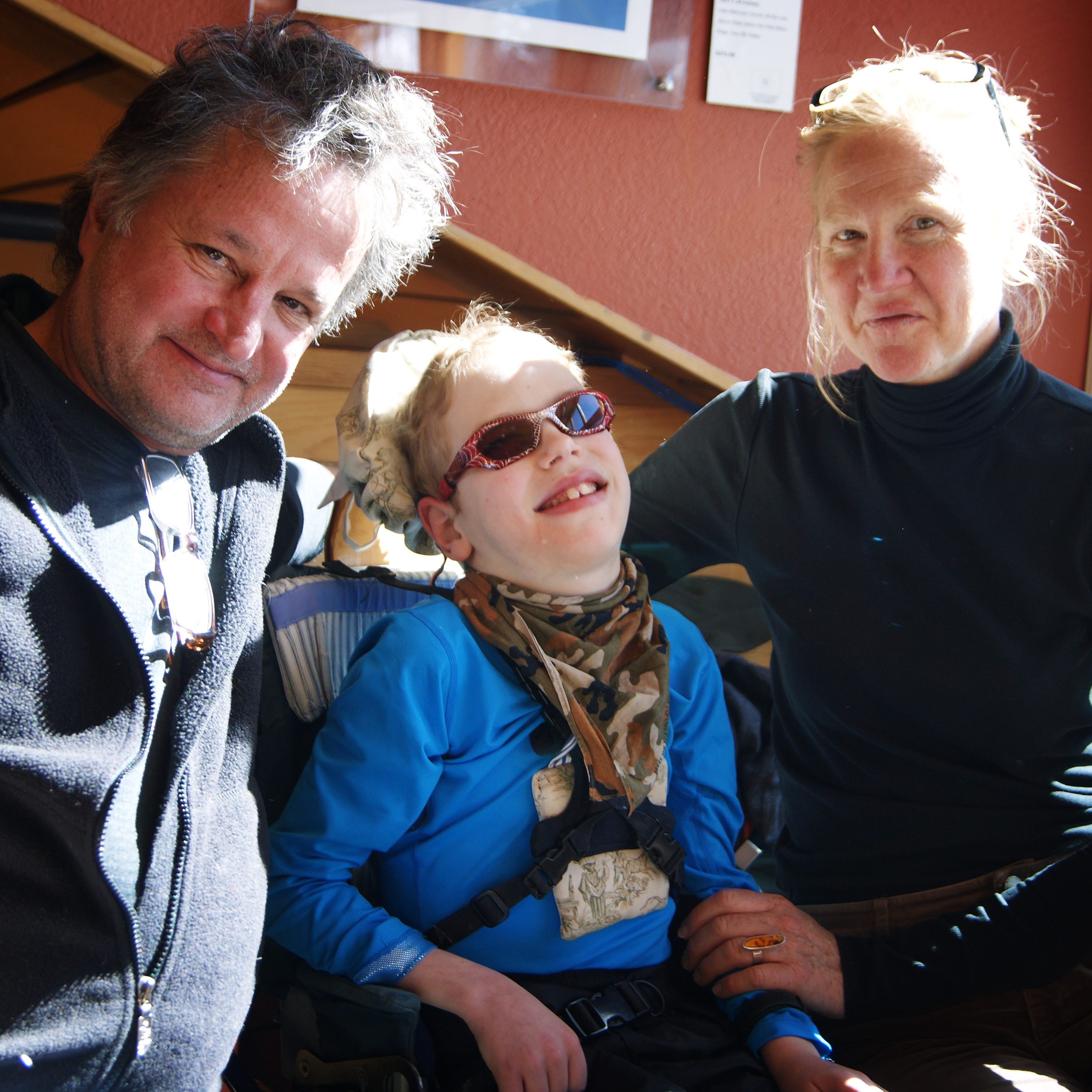 The Logan family -- Philip, Tilghman and Barbara -- traveled from New York City to New Mexico to vacation at a ski lodge that can accommodate Tilghman's needs.