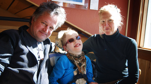 The Logan family — Philip, Tilghman and Barbara — traveled from New York City to New Mexico to vacation at a ski lodge that can accommodate Tilghman's needs.