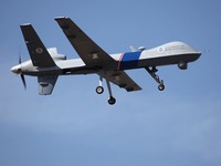 An unmanned drone patrols the U.S.-Canadian border. Attorney General Eric Holder, in a letter to Sen. Rand Paul, R-Ky., said the president could in an