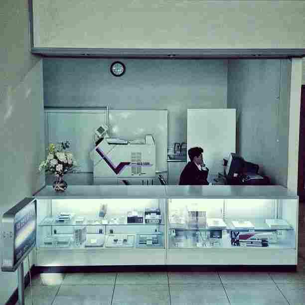 """An old-school photo lab in #Pyongyang, North Korea."""