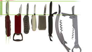 A TSA illustration of knives that will be allowed on planes.