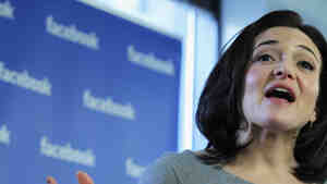 Facebook Chief Operating Officer Sheryl Sandberg speaks in December 2011 in New York City.