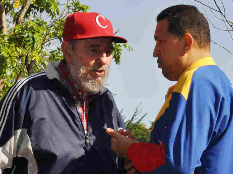 Cuba's Fidel Castro was a mentor to Hugo Chavez, and the Venezuelan leader provided oil and other assistance to Cuba. The two men met in Havana in June 2011 when Chavez went for cancer treatment.