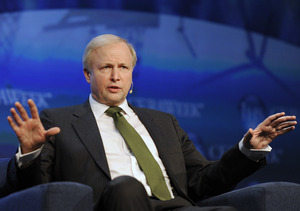 BP Group CEO Bob Dudley speaks at the IHS CERAWeek energy conference in Houston on Wednesday.