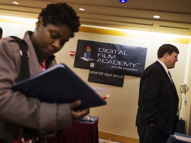 The scene at a job fair in New York C