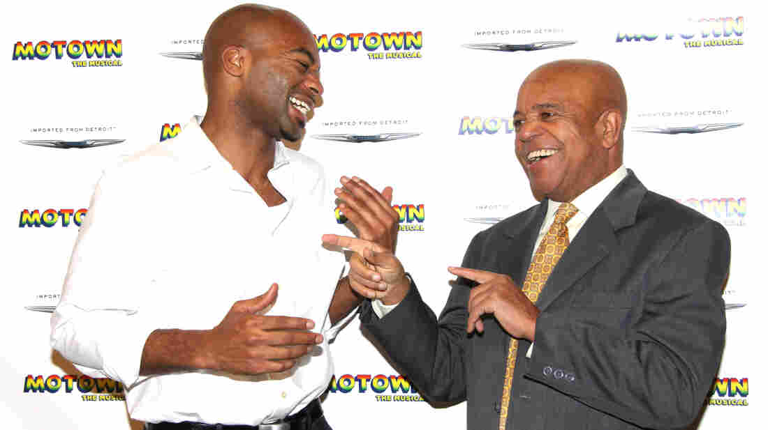 Actor Brandon Victor Dixon (left) plays legendary Motown Records founder Berry Gordy in Broadway's upcoming Motown: The Musical. Previews for the show start March 11.