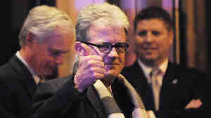 Sen. Tom Coburn, R-Okla., gave a thumbs-up Wednesday night after he and other GOP senators had dinner with President Obama.
